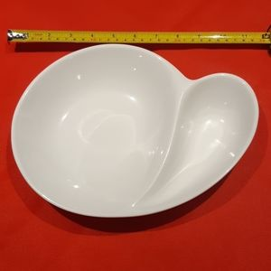 Snack Bowl with Two Compartments